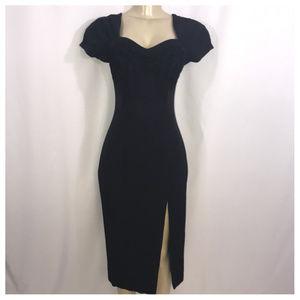 Virgo II Black Square Neckline Maxi Dress Size 4